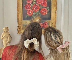 art, florals, and girls image
