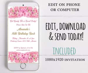 etsy, 16th birthday party, and birthday party sms image