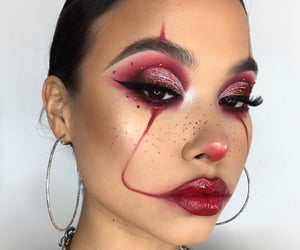 clown, eyeliner, and glitter image