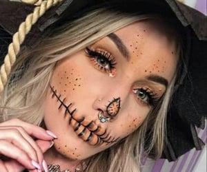 Halloween, scarecrow, and autumn image