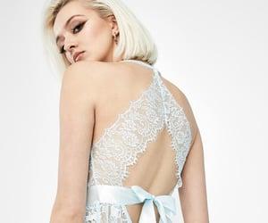 blue, lingerie, and bodysuit image