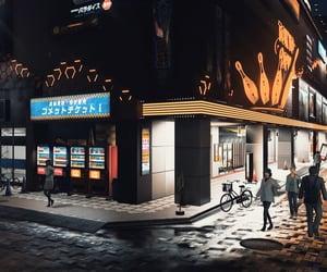 dark, movie theater, and night image