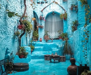blue, house, and morocco image
