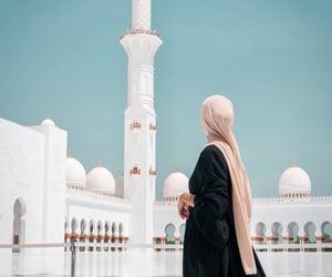 abu dhabi, hijab, and islam image