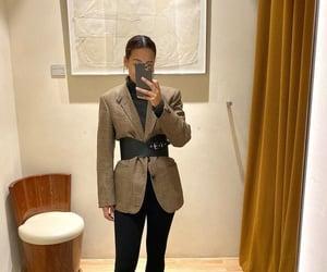 jacket, mirror, and selfie image
