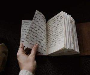book, dark, and journal image
