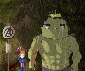 Hulk, Avengers, and captain america image