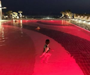 red, pool, and night image