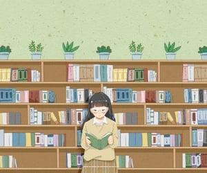 books, girl, and kawaii image