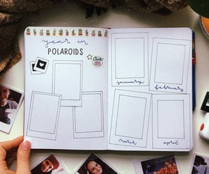 polaroid, polaroids, and bujo spread image