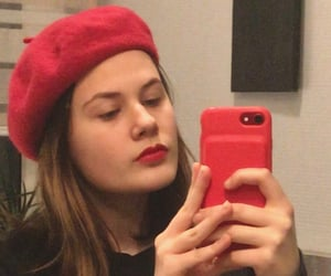 aesthetic, red, and redlips image