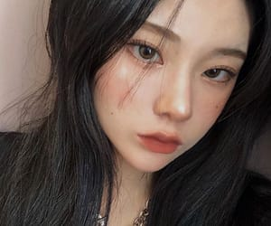 asian, cheeks, and contacts image