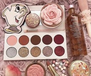 makeup, beauty and the beast, and blush image