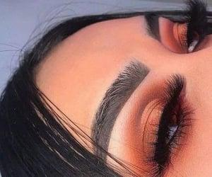 beauty, girl, and long eyelashes image