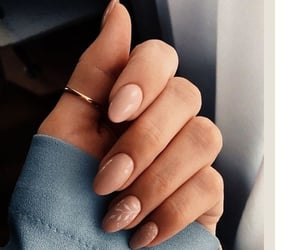 beauty, beige, and nail art image