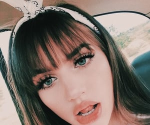 accessories, bangs, and blue eyes image