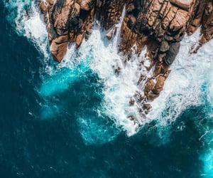 beautiful, ocean, and rock image