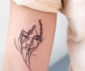 tattoo, flowers, and love image