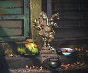 doors, fruit, and india image