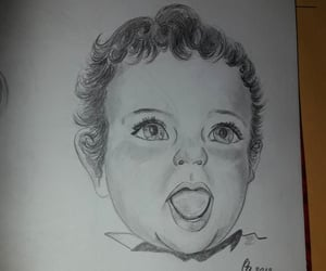 baby, dibujo, and little boy image