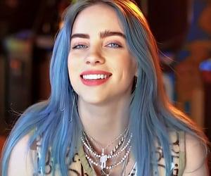 billie eilish, blue hair, and celebrity image
