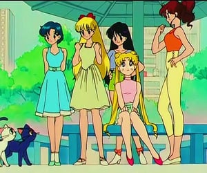 luna, sailor mercury, and sailor moon image