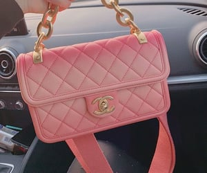 bag, pink chanel, and luxury purse image