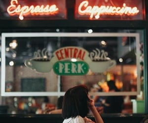 coffee, girl, and central perk image