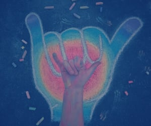 rainbow, carefree, and chalk image