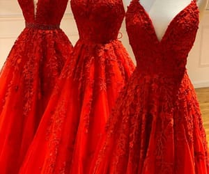 red, dress, and princess image