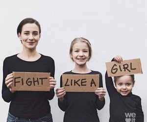 daughter, girl, and fight image