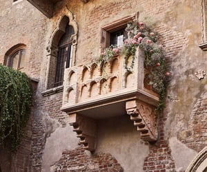 architecture, flower, and balcony image
