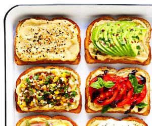 food, toast, and sandwich image