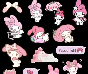 messy, my melody, and sanrio image
