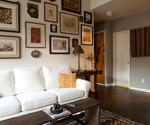 couch, loft, and decor image