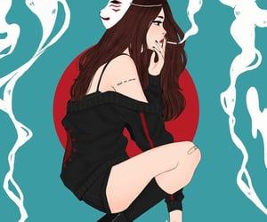 art, girl, and japan image