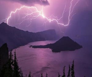 purple, lightning, and storm image