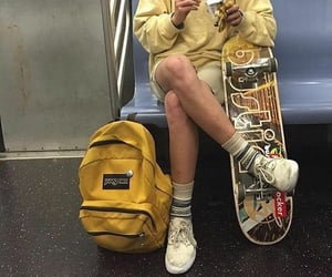 girl, grunge, and yellow image