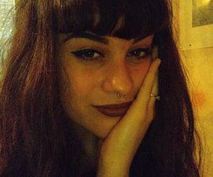 aesthetic, girl, and redlips image