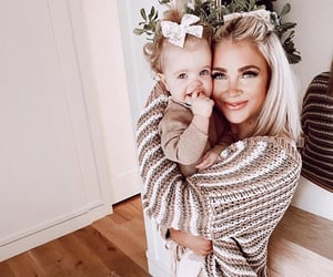 baby, beautiful, and family image