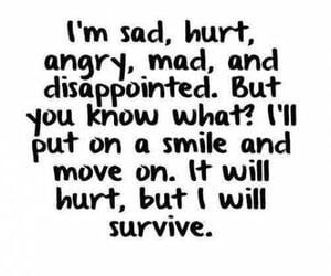 sad, quotes, and hurt image