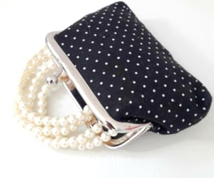 black and white fashion, polka dots, and vintage style image