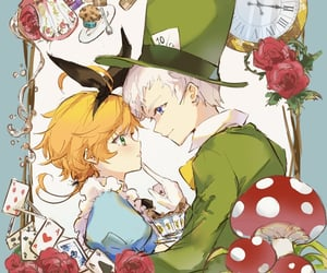 alice in the wonderland, anime, and emma image