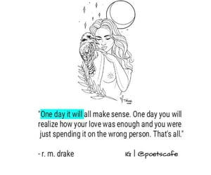one day, love, and poets image