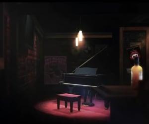 bar, lounge, and piano image