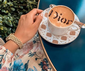 coffee, dior, and cafe image