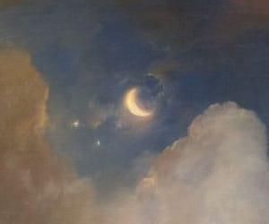 art, moon, and aesthetic image