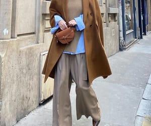blogger, cape coat, and loewe bag image