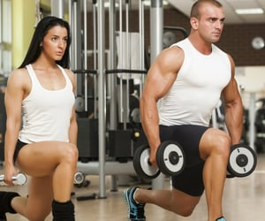 bodybuilding, treadmill workout, and fitness workout image