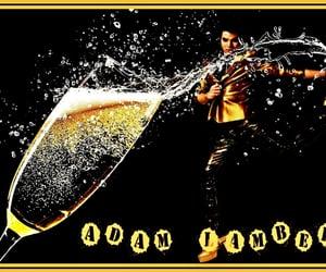 adam lambert, champagne, and wallpaper image